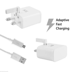 Fast Charging Wall Charger Adaptive  for Samsung  Tecno Infinix Huawei Charger With Micro USB Cable white one szie