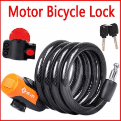 Motor Bicycle Mountain Bike lock Anti-theft Lock Security Lock Steel Spiral CableLock