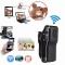 WiFi P2P Nanny Micro Secret Mini Spy Camera IP Camcorder Night Vision DV DVR Video Voice Recorder black one size