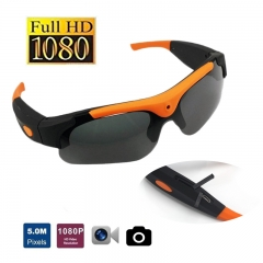 Sunglasses Mini Spy HD 1080P  Sports Camera Smart Glasses Camcorder Outdoor Video Recorder Goggles black one size