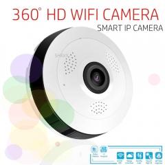 360 Degree Panoramic Wide Angle MINI Cctv Camera Smart IP Wifi Wireless Fisheye Lens 1080P Camera white one size