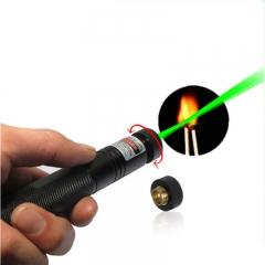 Laser Pointer High Power Strong Light Match Cigarette and Fire Lighter Green beam Laser Flashlight Green one size