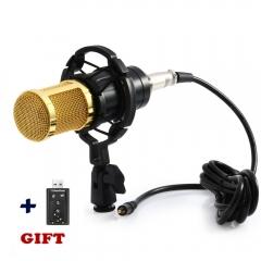 Condenser Microphone Studio Sound 3.5mm Wired Vocal Recording Microphone Broadcast Radio Microphones