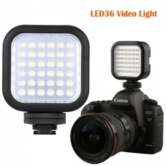 LED36 Video Light 36 LED Lights Lamp 5500~6500K Photographic Lighting for DSLR Camera Camcorder DVR black one size