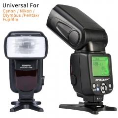 Triopo TR-950 Flash Light Speedlite Universal For Canon Nikon Pentax Fujifilm Olympus Cameras black one size
