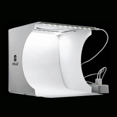 Mini Folding Lightbox Photography Photo Studio Softbox 2 Panel LED Light Photo Background Kit white one size