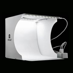 Mini Folding Lightbox Photography Photo Studio Softbox 2 Panel LED Light Photo Background Kit white one size