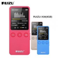 RUIZU X08 8GB MP3 Music Video Player Support 64GB TF Card With High Sound Quality Voice Recorder gold