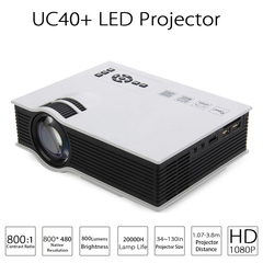 LED Projector Full HD 1080P 800lumens Home Theater Beamer Proyector with HDMI AV SD VGA white one size