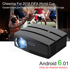 Android Projector Android 6.01 4K/2K WIFI Bluetooth Full HD LED Support HDMI Miracast Airplay TV black one size
