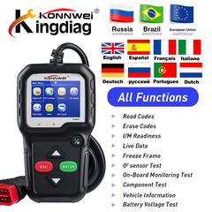 KONNWEI KW680 Automotive Scanner Multi-languages Full OBDII Function OBD2 obd 2 Diagnostic Tool