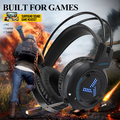 Gamer Headphone Headset 3.5mm Jack Bass Stereo Sound Gaming Headset with mic for PC Laptop Headphone
