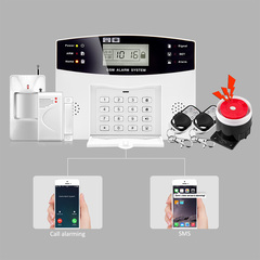 Home Security GSM Alarm systems Voice Prompt Wireless Door sensor LCD Display SIM SMS GSM Alarm white one size