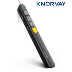 Wireless Presenter RF 2.4GHz Powerpoint Presentation Remote Control PPT Clicker Laser Pen black one size