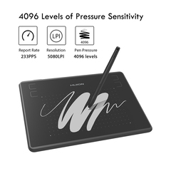 HUION H430P 4-inch Graphic Tablet OSU Game Pen Tablet Signature Pen Tablet Digital Drawing Tablet black one size