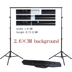 2.6*3M Background Stands Studio Photo Studio Aluminum Support T Shape Backdrop for Studio Photo black 2.6*3M