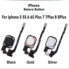 Fingerprint Touch Sensor Flex Cable For iPhone 5 5S 6 6 Plus 6S 7 7 Plus 8 plus Return Home Button black iphone8