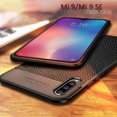 Leather Soft TPU Phone Case for Xiaomi Mi 9 Mi9 SE Cover Shockproof case 360 full protection Cover black xiaomi 9