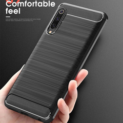 Case for Xiaomi Mi 9 Mi9 SE Case Cover Shockproof Protective Cover Carbon Fiber Silicone Case black xiaomi 9