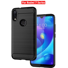 Case for Xiaomi Redmi Note 7 Pro Series Case Silicone Armor Bumper Shockproof Cover Phone Cases black Redmi 7