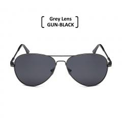Rimless Polarized Aviator Sunglasses Men Women UV400 Classic Sun Glasses grey/gun-black one size