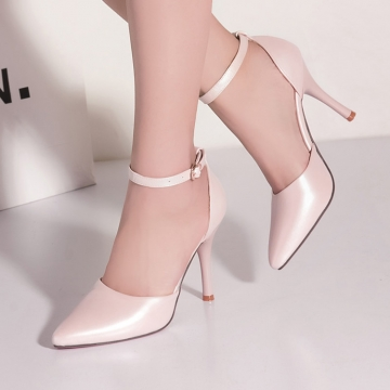 XQ0043 Women High Heel Shoes Pumps Lady Sexy Pointed Toe Wedding Shoes Pink Shoes pink 39