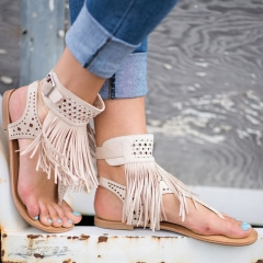 X000154 Women Wedge Sandals Shoes Women Summer Sandals Ladies Flat shoes white 39