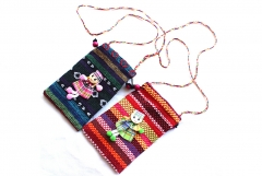 Chinese Style Cell Phone Bag Shoulder Strap Mini Bag Real Female Package Wallets AS PICTURE 1
