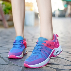X000650 Women Running Shoes Sport Sneakers Air Cushion Nice Trends Runner Breathable Shoes blue pink 39