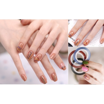 Kilimall 10 rolls nail sticker line mixed color nails striping 10 rolls nail sticker line mixed color nails striping tape decal for diy 3d nail art prinsesfo Gallery