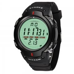 Sport Men Watches Outdoor Countdown Timer LED  Digital Wristwatches 30M Waterproof Boy Watches black one size