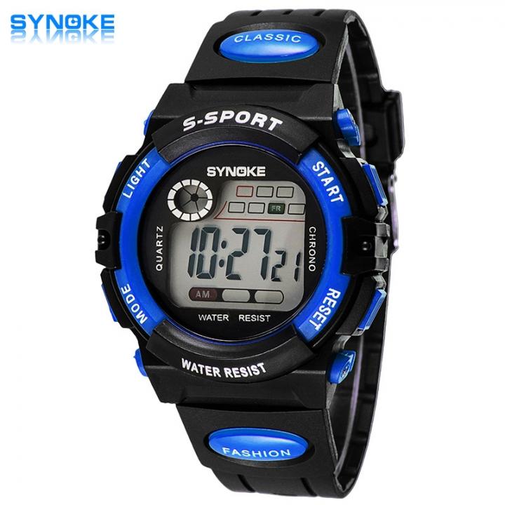Digital Children Watch Kids Watches Girls Boys Clock Child Sport Wrist Watch for Kids Surprise Gift Large blue