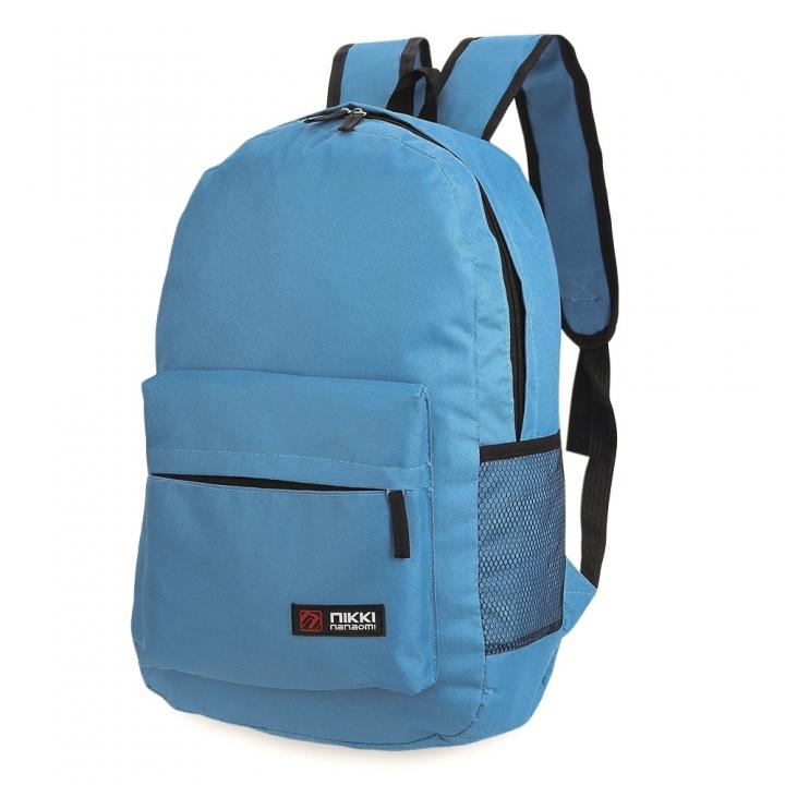 Guapabien Solid Color Letter Ladder Lock Zipper Portable Backpack for Unisex blue one size