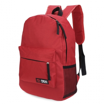 Guapabien Solid Color Letter Ladder Lock Zipper Portable Backpack for Unisex red one size