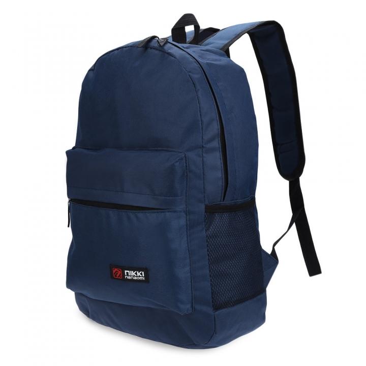 Guapabien Solid Color Letter Ladder Lock Zipper Portable Backpack for Unisex pruplish blue one size