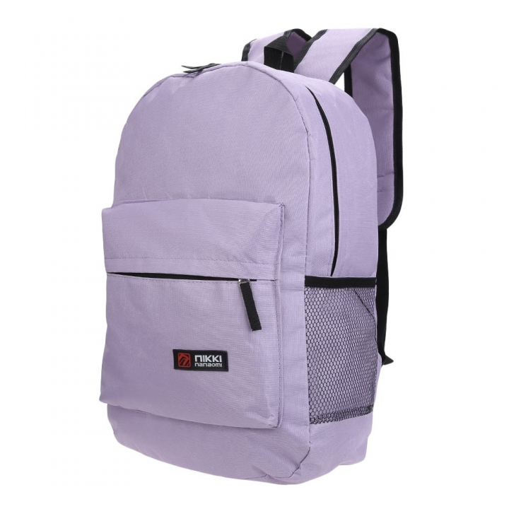 Guapabien Solid Color Letter Ladder Lock Zipper Portable Backpack for Unisex light purple one size