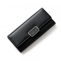 WEICHEN Fashion Women Wallet Clutch Purse Female Long Leather Ladies Wallets Holder Women Money Bag black one size
