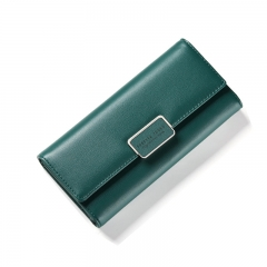Fashion Women Wallet Clutch Purse Female Long Leather Ladies Wallets Holder Women Money Bag green one size