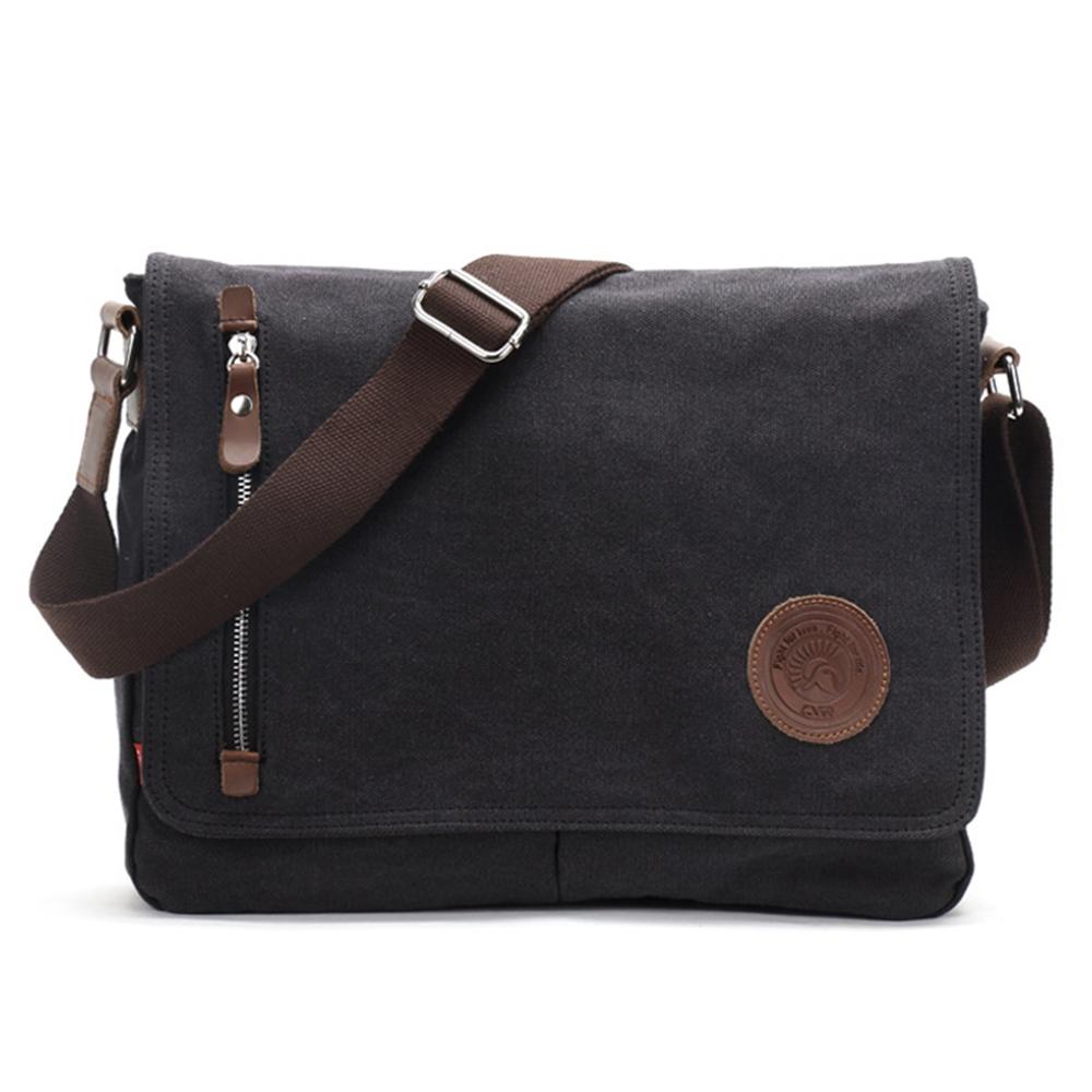 c5a34524b9 Canvas Messenger Bags Shoulder Bag Men Business Bag Travel Schoolbag ...