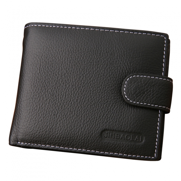 Men Wallets Male Genuine Leather Wallet Coin Pocket Card Holder black one size