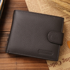 Men Wallets Male Genuine Leather Wallet Coin Pocket Card Holder coffee one size