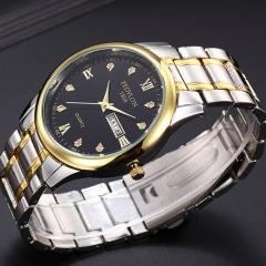 Fashion Men Watch Luxury Stainless Steel Roman Numerals Lovers Watches Women Quartz Wristwatch men black one size