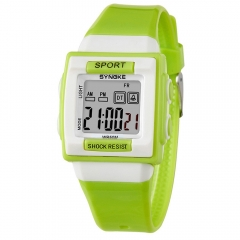 Kids Electronic Wrist Watch Digital Shockproof Waterproof Children Watches Boys Girls Sport Clock green one size