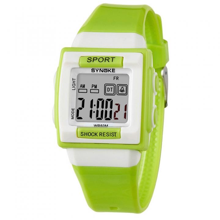 Kids Electronic Wrist Watch Digital Shockproof Waterproof Children Watches Boys Girls Sport Clock green one size