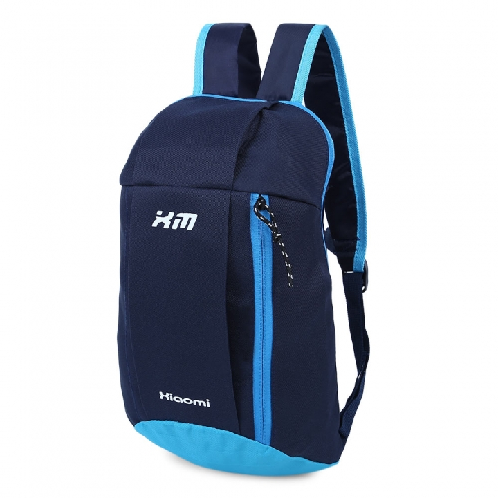Water Resistant Lightweight Patchwork Bucket Shape Backpack Unisex Portable Bag blue one size