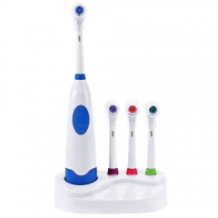 Soft Electric Toothbrush with 4 Brush Heads Replacement Teeth Whitener Cleaning Oral Hygiene blue