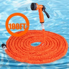 100FT Expandable Garden Hose Pipe with 7 in 1 Spray Gun orange 100FT