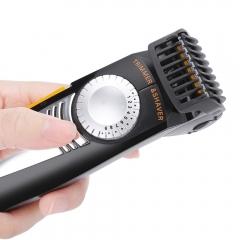 2 in 1 Multifunction Men Electric Shaver Hair Trimmer Setting Cutting Length Adjustable Shaver Razor black