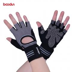 New Upgrade Wristband Fitness Gloves Breathable Butterfly Net Sport Gloves Summer Half Finger Gloves gray M