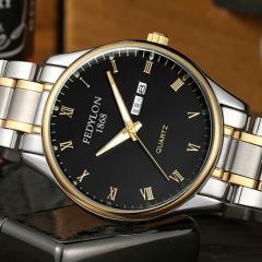 Men Wrist Watches Stainless Steel Waterproof Business Quartz Watch Women Lover Wrist Watch men black one size